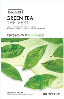 Picture of REAL NATURE FACE MASK GREEN TEA