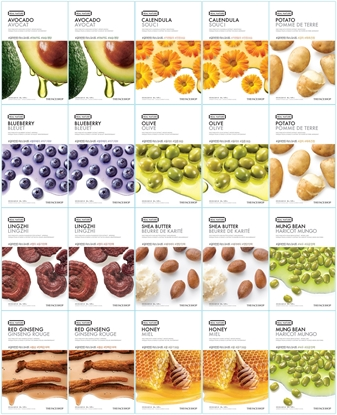 Picture of THE FACE SHOP REAL NATURE MASK SHEETS FOR DRY SKIN (20PCS)