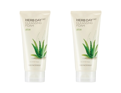 Picture of HERB DAY 365 CLEANSING FOAM ALOE LOT (2)