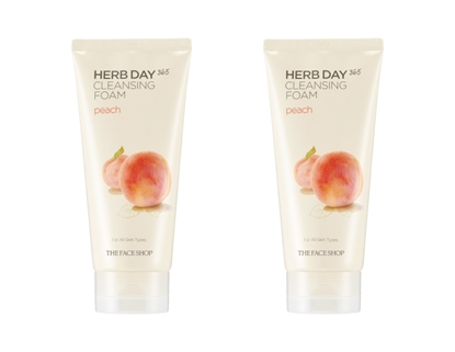 Picture of HERB DAY 365 CLEANSING FOAM PEACH LOT (2)
